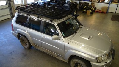 Tembo 4x4 Roof rack Nissan Patrol LWB Y61 Post 97
